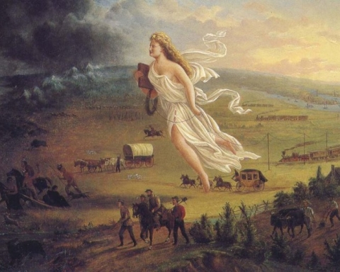 Johan Gast. American Progress. 1872.