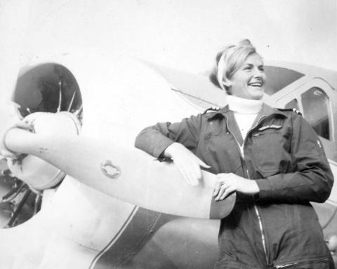 Turi Widerøe i 1968. Foto: Luftfartsmuseet.
