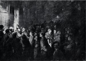 Th. Kittelsen. Kvalm i gata, 1877.