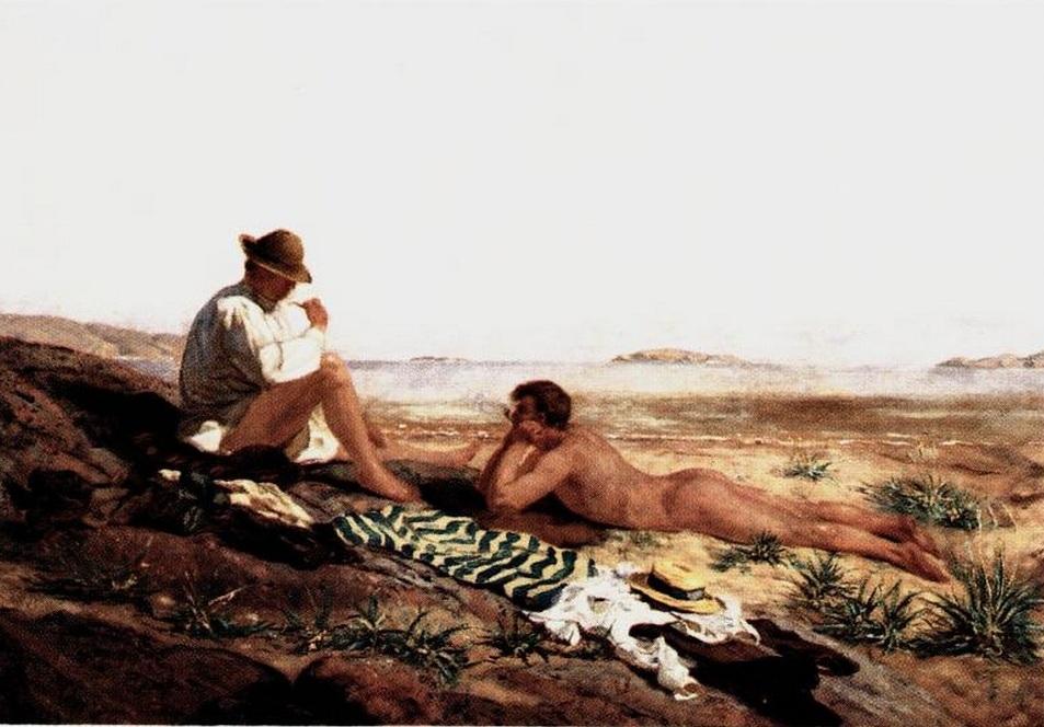 Olaf Isaachsen. Efter badet. 1892.