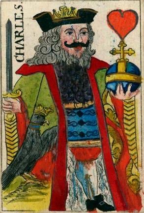 Fransk spillkort fra første halvdel av 1700-tallet. Johan Jobst Forster.