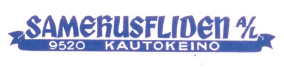 Samehusfliden A/Ls logo brukt på korrespondanse. Original i Samisk arkiv / Sámi Arkiiva (Samehusfliden A/Ls arkiv).