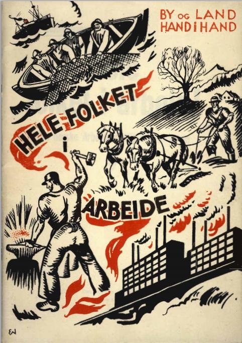 """Det norske arbeiderpartis kriseprogram fra 1933, """"Hele folket i arbeide"""", kan leses på Arbarks nettsider."""
