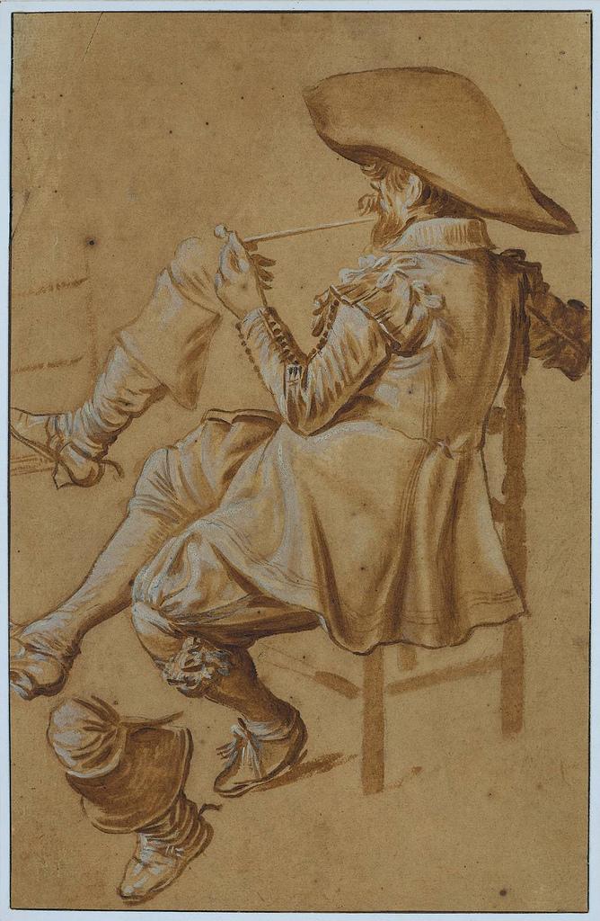 Dick Hals. Skisse av en piperøker, ca 1625.