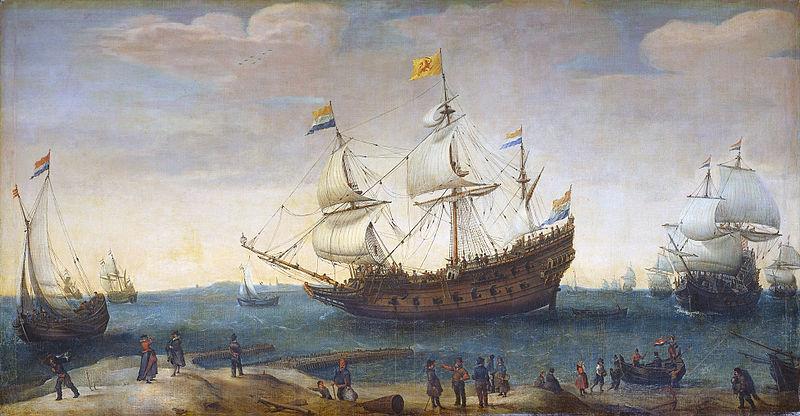 """Mauritius"" og andre ostindiafarere. Hendrick Cornelisz. Vroom."