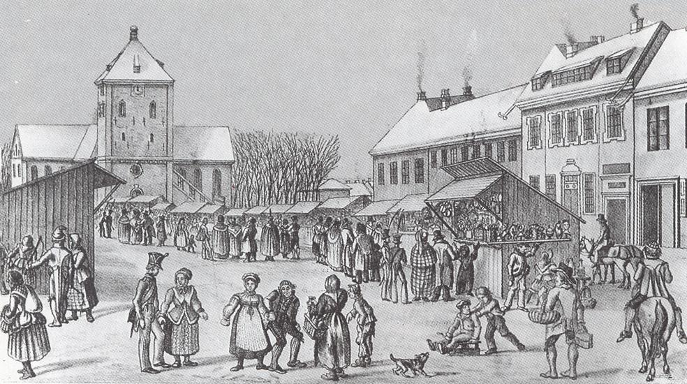 Christianiamarkedet omkring 1830