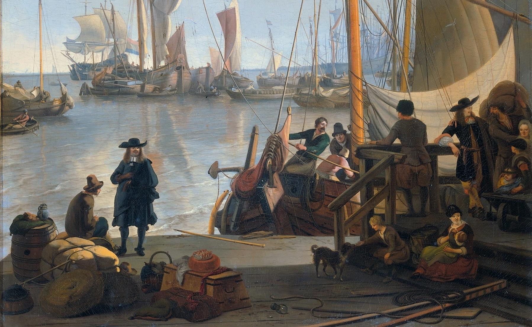 Mosselsteiger, Amsterdam. Ludolf Backhuysen 1673.