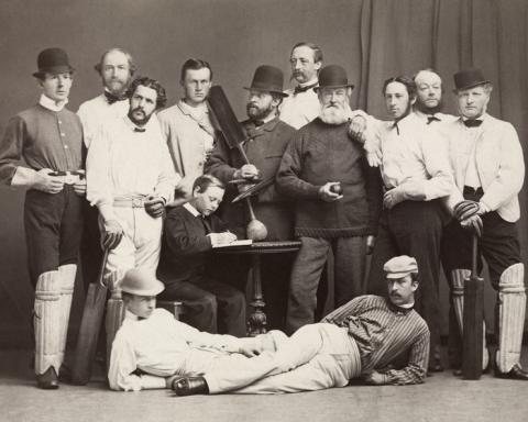 Christiania Cricketklubb, 1865. Foto: Wilhelm Peder Daniel Cappelen, Oslo museum / oslobilder.no.