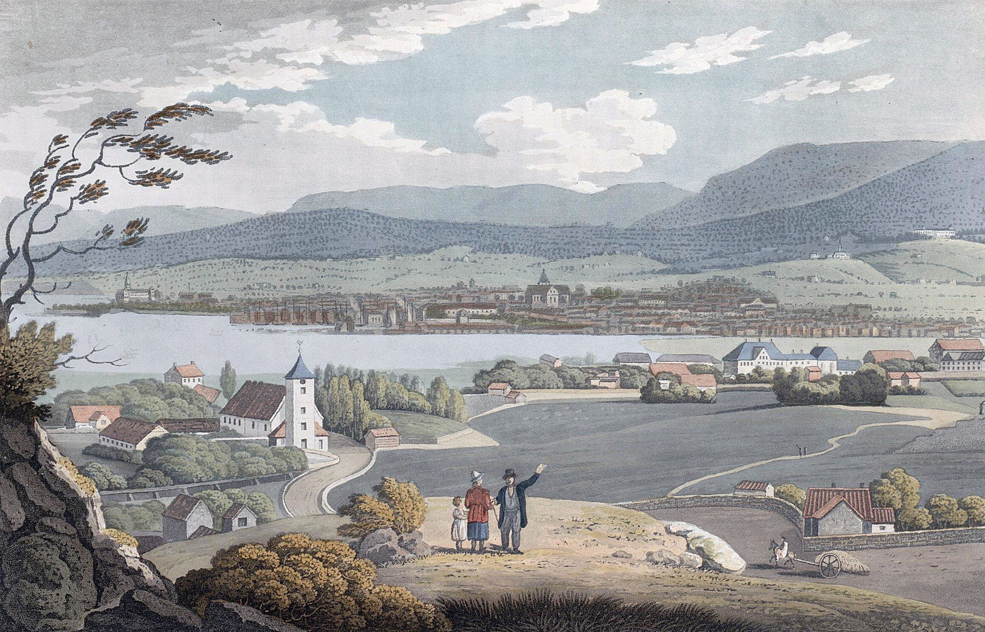 Christiania i 1801. J.W. Edy. Kilde: Wikipedia.