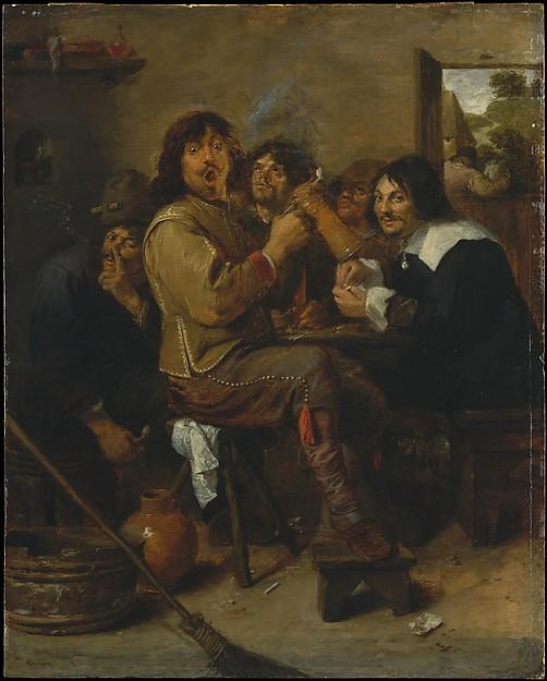 """""""Røykarane"""" Adriaen Brouwer ca 1636"""