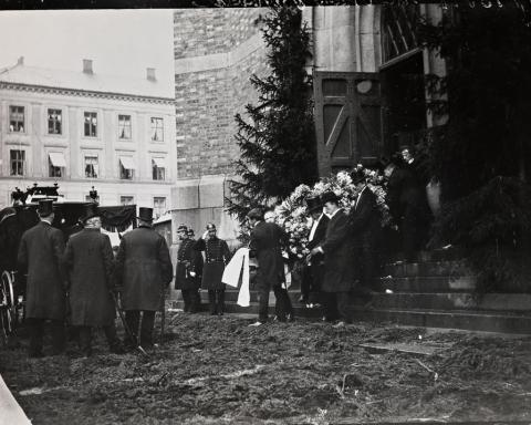 Fra Henrik Ibsens begravelse, 1. juni 1906. Foto: L. Szacinski