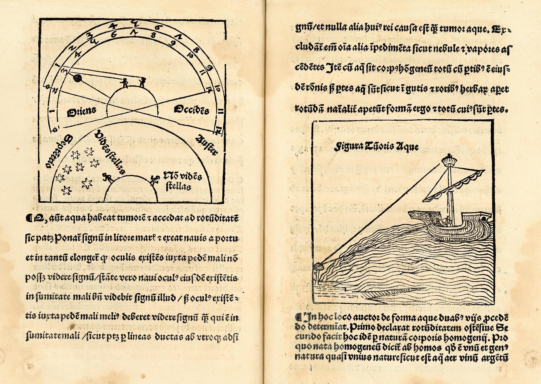 Fra trykket utgave av Jean Sacroboscos Tractatus de sphaera, kalt Opusculum Johannis de sacro busto spericum, ca 1500. Bilde: Nasjonalbiblioteket