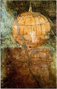 Globe i villaen Boscoreale nær Pompeii. Bilde: Wikimedia commons.