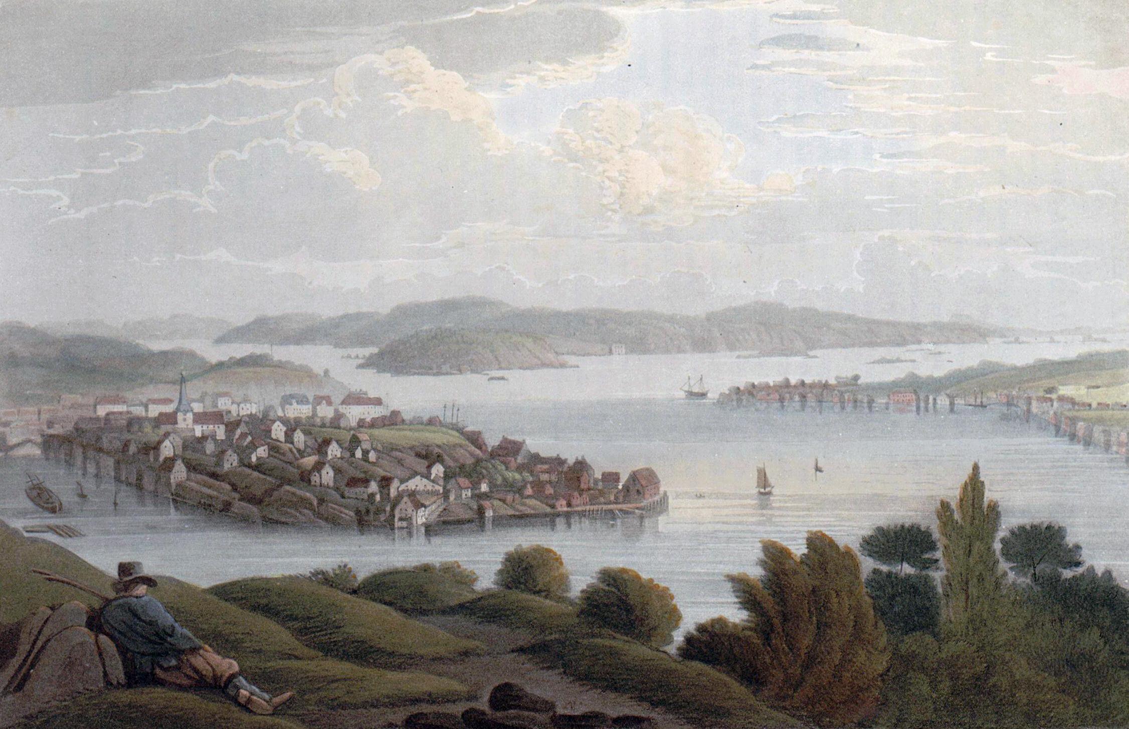 Bilde 3: Arendal havn 1800. John William Edy